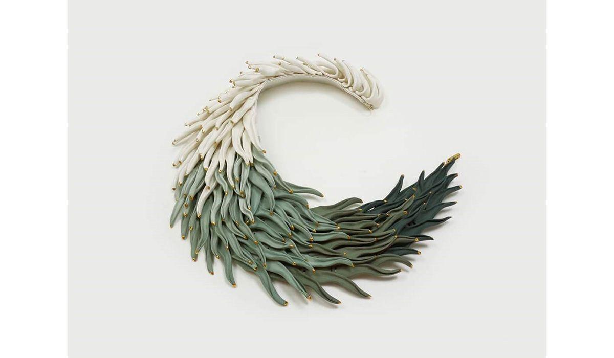 Statement Contemporary Art Jewelry Tamagit body wearableart accessories collect artcollect Raluca Buzura