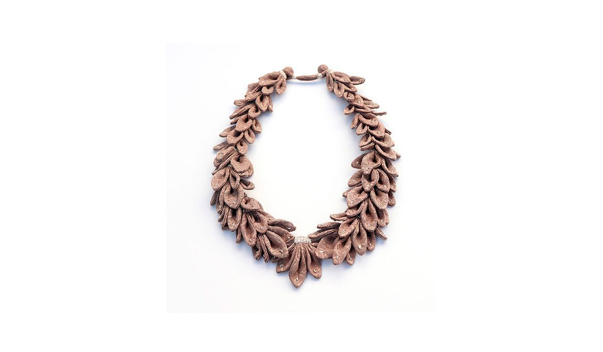 Statement Contemporary Art Jewelry Tamagit body wearableart accessories collect artcollect necklace
