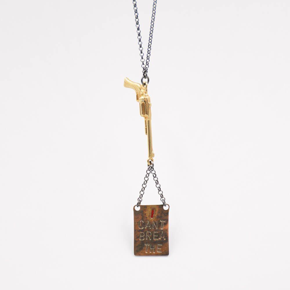 kalashnikov Statement Art Jewelry Tamagit artcantbreathe icantbreathe Nicolas Estrada